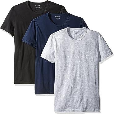 Emporio Armani Mens Cotton Crew Neck T-Shirt, ...