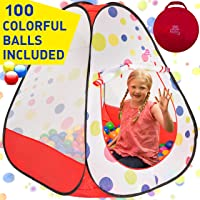 Deals on Kiddey Kids Ball Pit Play Tent 100 Ball Pit Balls Included