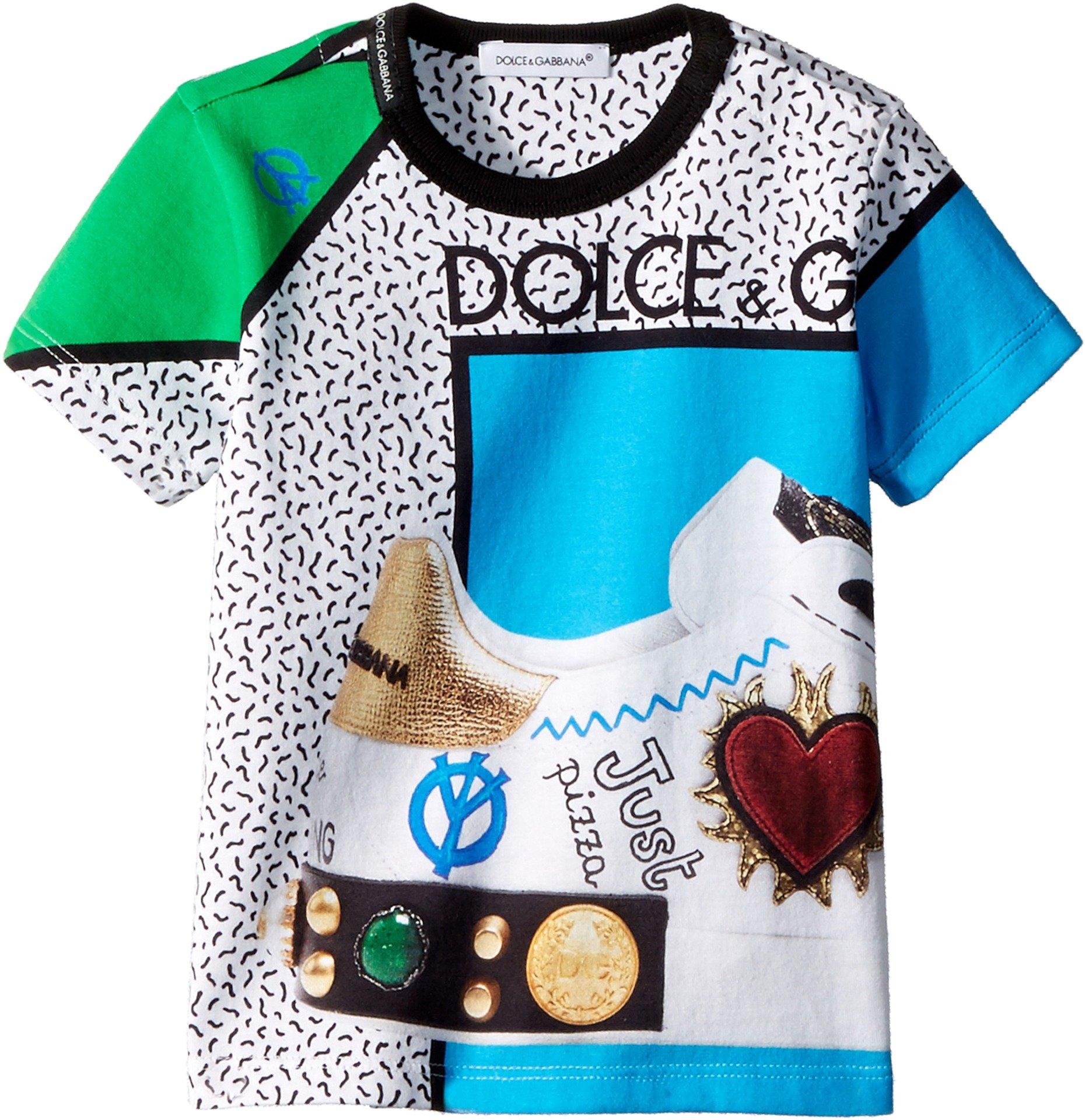 Dolce & Gabbana Kids Baby Boy's Scarpe Print T-Shirt (Infant) Turquoise 6-9 Months