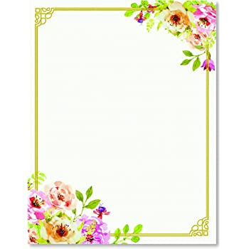 Amazon stationery writing paper perfect invitations for stationery writing paper perfect invitations for bridal showers birthdays weddings engagement party mightylinksfo