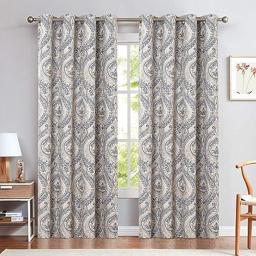 jinchan Vintage Linen Curtains