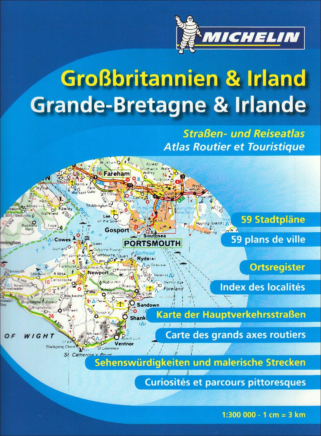 Großbritannien & Irland Straßenatlas (MICHELIN Atlanten, Band 122)
