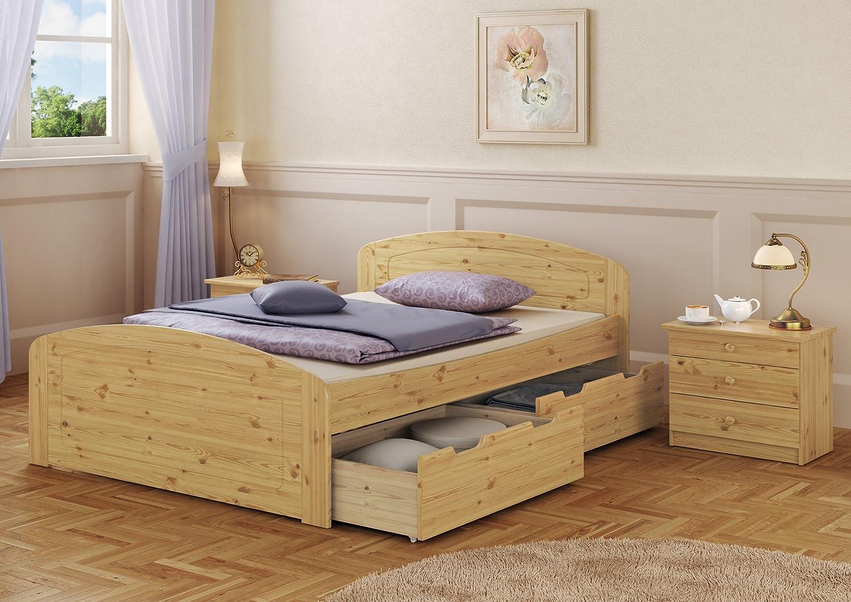 Erst-Holz® Funktionsbett Doppelbett 3 Bettkästen 140x200 ...