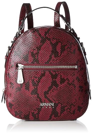 Armani Jeans Zaino Women S Backpack Handbag Rot Burgundy