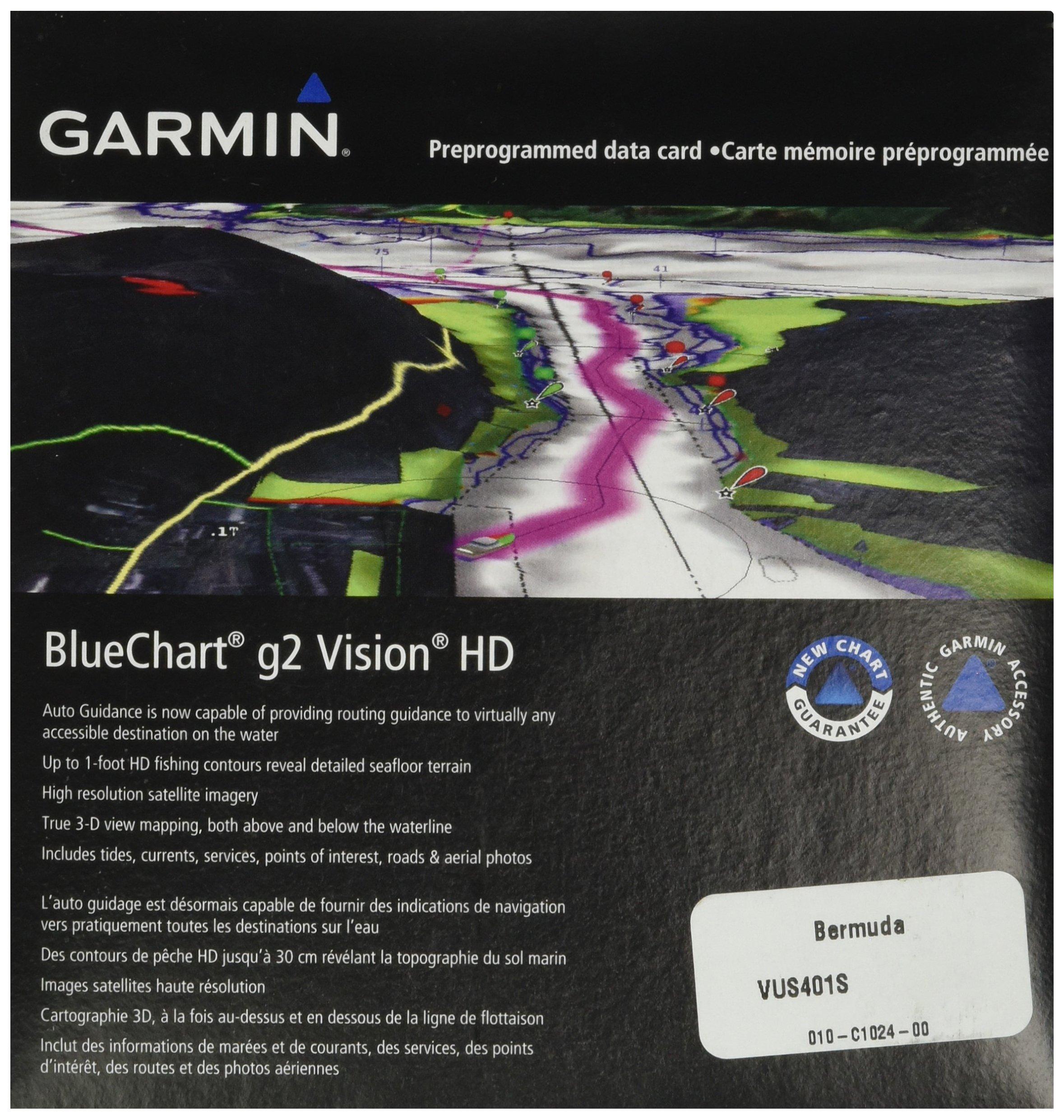 Garmin BlueChart g2 Vision Bermuda Saltwater Map microSD Card by Garmin