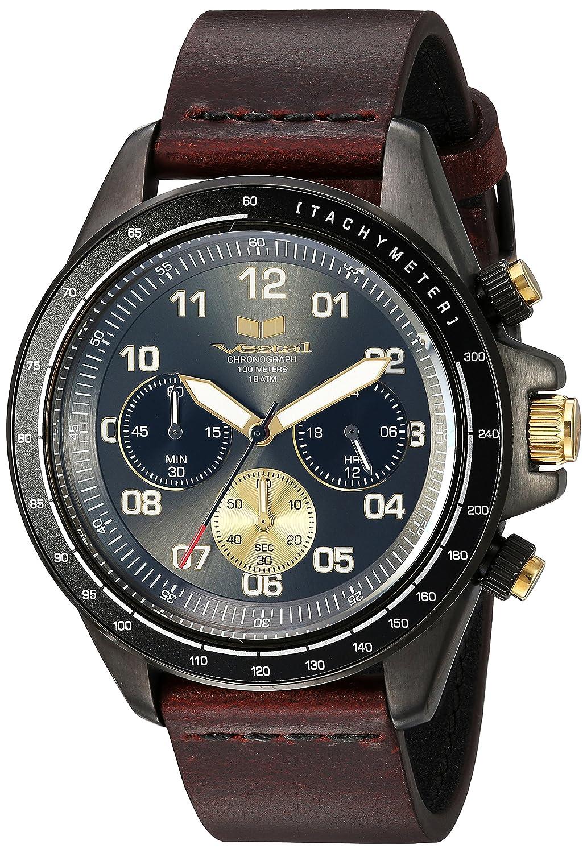 Vestal ' zr2 ' QuartzステンレススチールandレザーCasual Watch, Color : Brown (Model : zr243l27。CVBK) B0793M7J5T