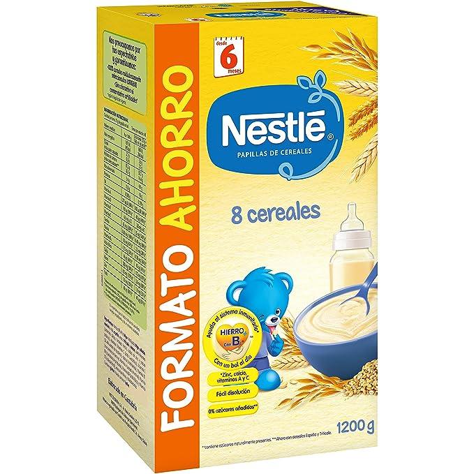 Nestlé Papillas 8 Cereales a Partir de 6 Meses - 1.2 kg: Amazon.es: Alimentación y bebidas