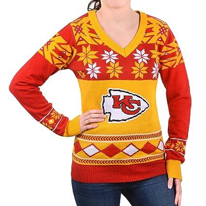 65b75b06 NFL Women's V-Neck Sweater, Kansas City Chiefs, X-Large