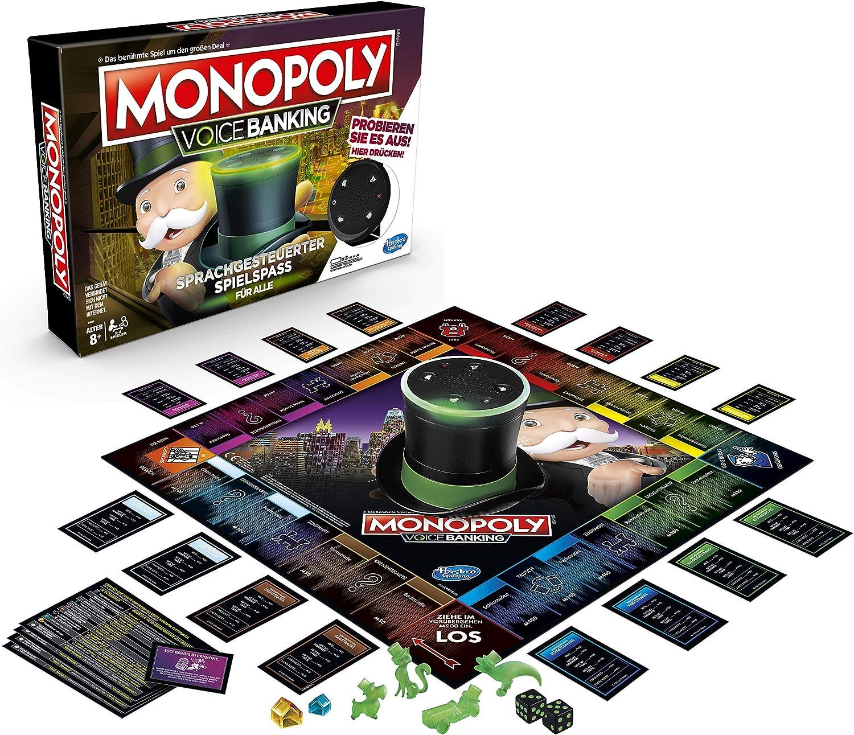 Hasbro- Monopoly Voice Banking, Juego Familiar controlado por Voz ...