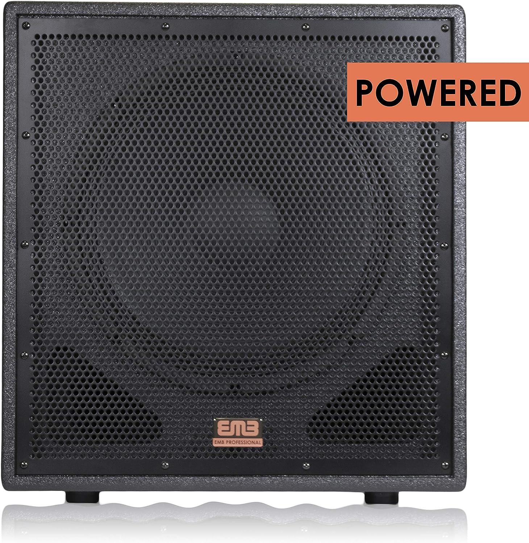 New EMB Professional EBP15Sub Bass Gig 15 1500 Watt Active Powered PA Subwoofer DJ//Pro w// 25FT XLR Cable