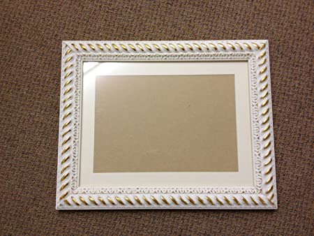 48mm Ornate White And Gold Shabby Chic Style Picturephotograph