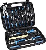 Karcher maletín de herramientas - 57 piezas incluye martillo, alicates, juego de destornilladores, llave de carraca y mucho mas