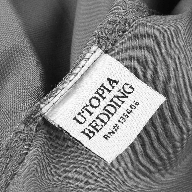 Utopia Bedding Premium Cotton Zippered Pillow Cases - 2 Pack (Queen, Grey) - Elegant Double Hemmed Stitched Pillow Encasement by Utopia Bedding (Image #6)