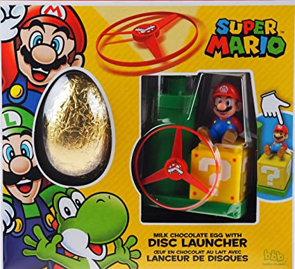 Super mario milk chocolate easter egg and disc launcher toy gift set super mario milk chocolate easter egg and disc launcher toy gift set negle Images