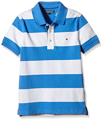 Tommy Hilfiger Kids Stretch Stripe Polo S/S, Camisa para Niños ...