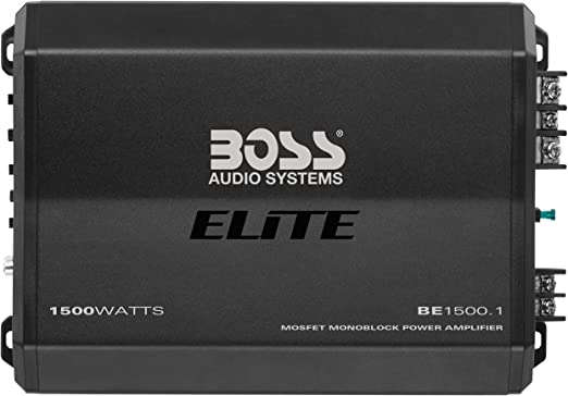 Monoblock Mosfet Car Amplifier with Remote Subwoofer Control BOSS Audio Systems PM1500 Phantom 1500 Watt 2 4 Ohm Stable Class AB