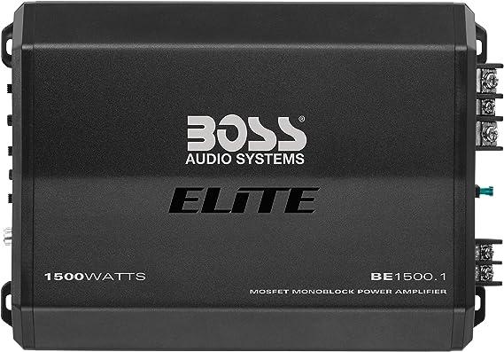BOSS Audio Systems Elite BE1500.1 Monoblock Car Amplifier - 1500 Watts