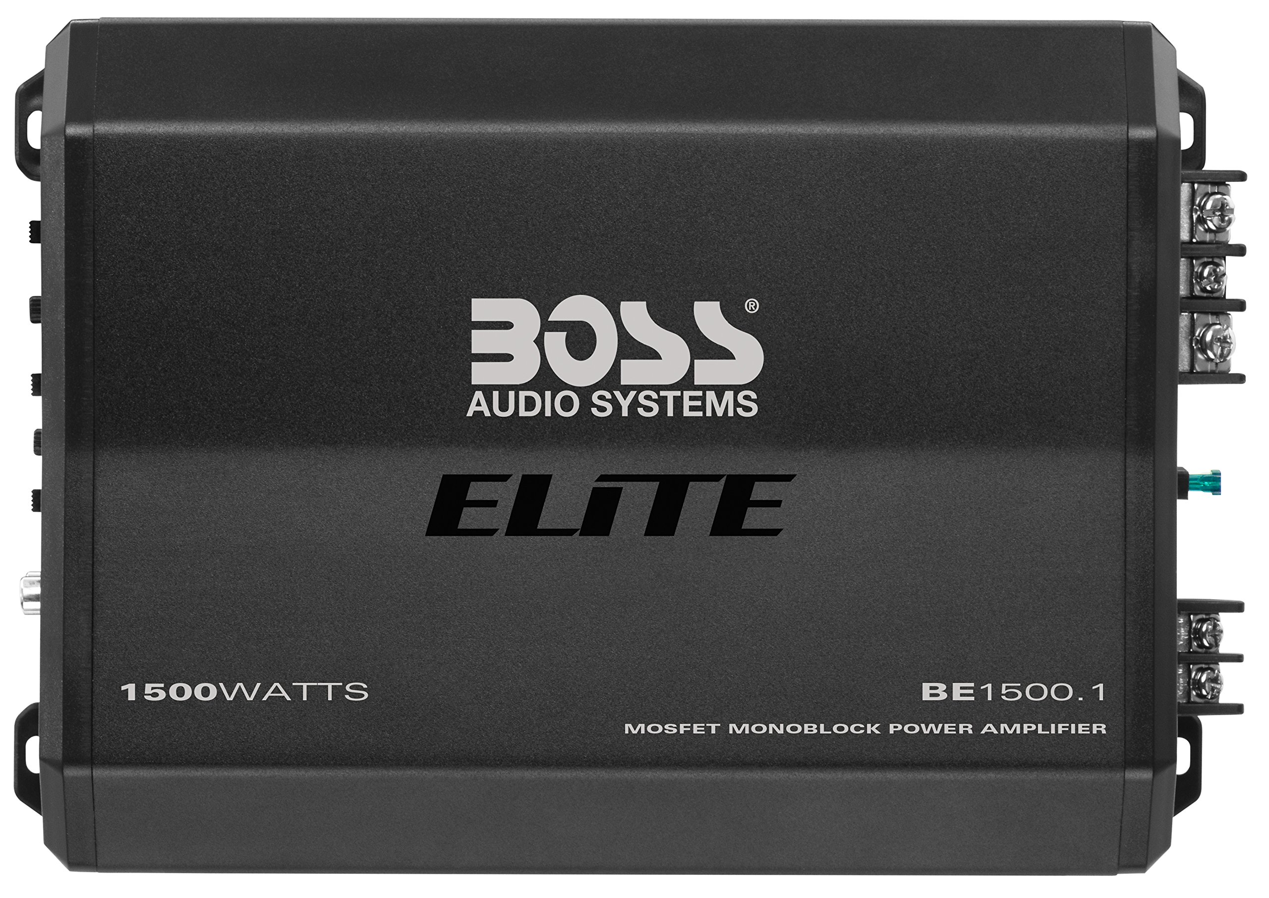 BOSS Audio Elite BE1500.1 1500 Watt, Class A/B, Monoblock Amplifier, Remote Subwoofer Control