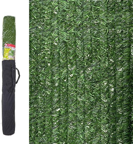 Ldk Garden 82182 - Seto artificial de ocultación para jardín, 300 x 150 x 20 cm, color verde: Amazon.es: Jardín