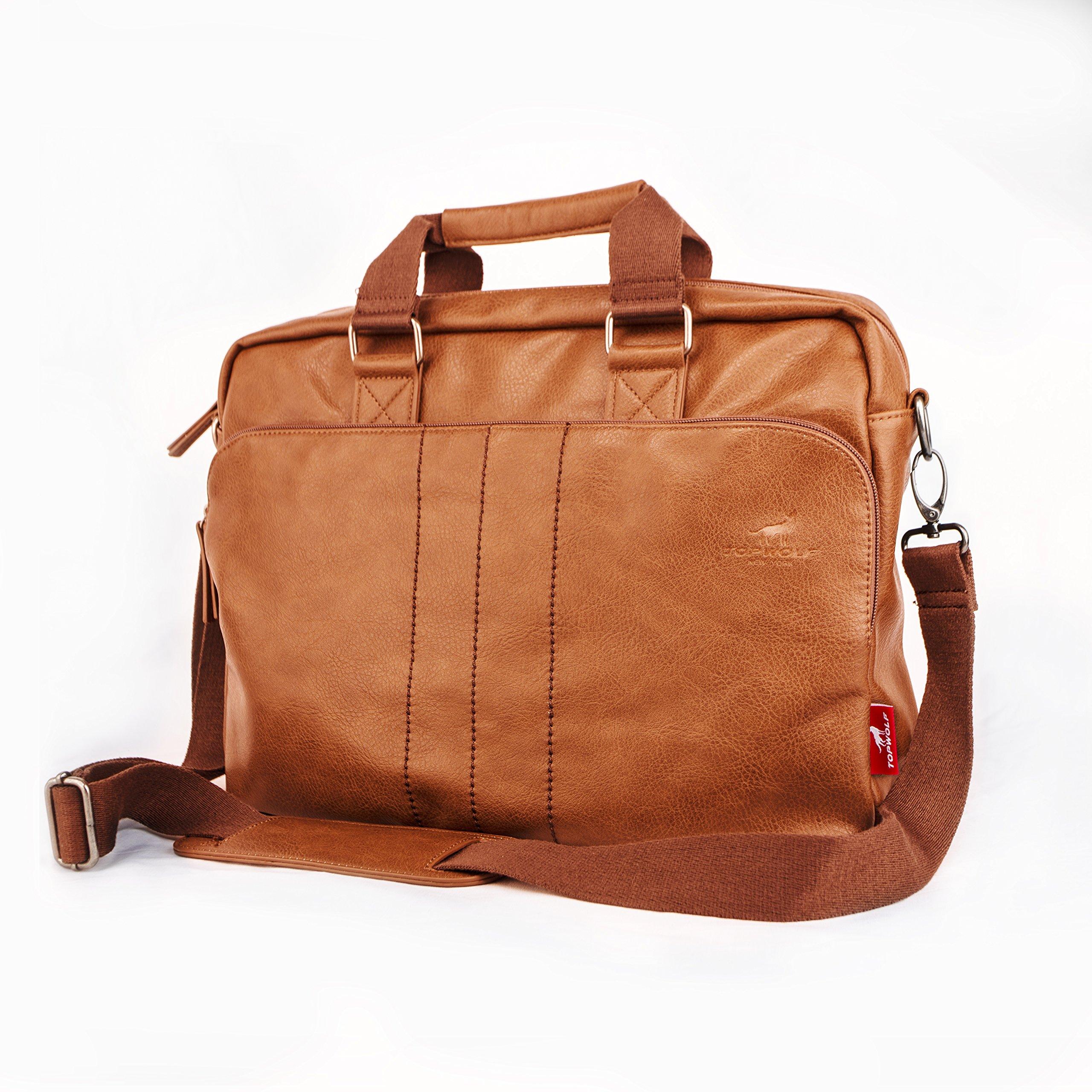 15.6'' PU Leather Laptop Bag Business Briefcase Hand Bag Computer Notebook Office Working Doctor Bag Shoulder Crossbody Bag Handbag