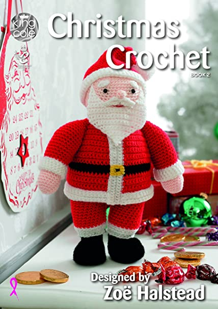King Cole Christmas Crochet Book 2 Amigurumi Toys Table Runner Tree Skirt Garland Stocking More