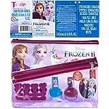 Townley Girl Disney Frozen Juego de 2 uñas con espaciador de dedos y bolsa decorativa
