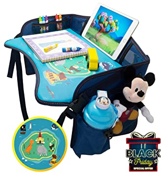 Kids Travel Tray By Heygoody Car Seat Toddler Trays With Tablet Cup Holder