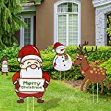 Joyjoz Christmas Yard Signs with Stakes for Holiday Lawn Yard Outdoor Decorations - Christmas Holiday Decorations Outdoor wit