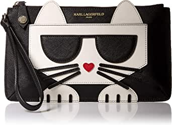 Karl Lagerfeld Paris womens Peeking Kitty Lg Wristlet