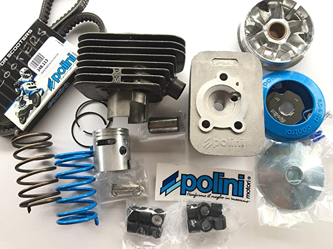 Polini Complete Kit For Piaggio Ciao Engines Consisting Of Thermal Assembly Sp 10 D 43 Cylinder Head Speed Controller 1 Pair Of Contrast Springs And Regulator Straps Auto