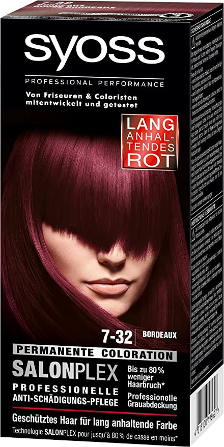 syoss 7 – 32 Burdeos Color del pelo (3 unidades, X 115 ml)