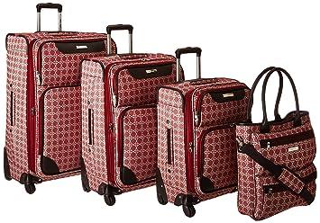 a1c7be25a Amazon.com   Ninewest Nine West Addison 4 Piece Luggage Set, Burgundy/Cream    Luggage Sets