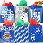 Christmas Holiday Blue Papr Gift Bags 20 Christmas Goody Gift Bags