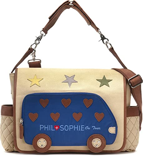 PHIL+SOPHIE, Cntmp, Damen Wickeltasche, Handtasche, Diaper Bag, Babytasche, Buggy Tasche, 44 x 30,5 x 9 cm (B x H x T)