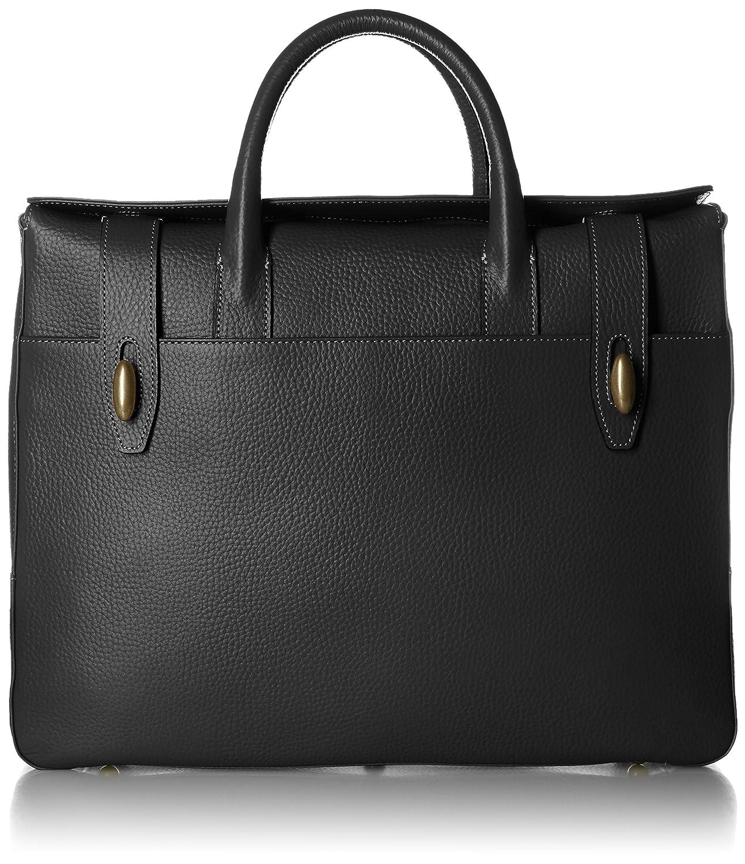 [トフアンドロードストーン] ビジネスバッグ ダブルビットブリーフTM-0670 B01LS2JA9A ブラック ブラック