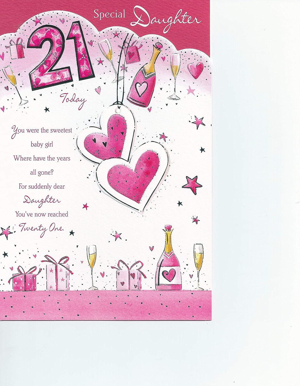Daughter 21st Birthday Card Amazon Co Uk Kitchen Home