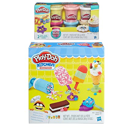 Amazon Com Play Doh Kitchen Creations Frozen Treats Play Set Play