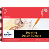 Canson Foundation Drawing Paper Pad with Micro-Perforated Sheets and Fine Texture, Side Wire Bound, 70 Pound, 18 x 24 Inch, 30 Sheets