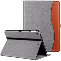 New IPad 9.7 Inch 2018/2017 Case, Ztotop Premium Leather Business Slim Folding Stand Folio Cover with Auto Wake/Sleep,Pencil Holder and Multiple Viewing Angles,DenimGray