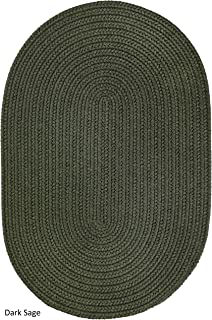 product image for Rhody Rug Madeira Indoor/Outdoor Oval Braided Rug (4' x 6') Sage