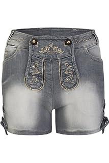 279de0bb4f9d Schöneberger Trachten Damen Trachtenjeans - Hotpants Jeans Stretch ...