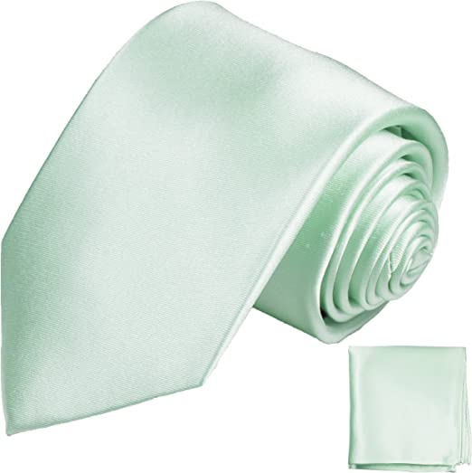 Paul Malone Cravate Vert Soie-Vert en Soie Cravate Feuilles Motif 391