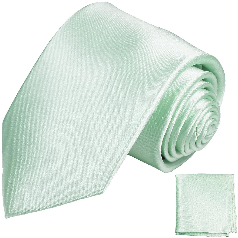 Solid Color Verde Menta - Tie Set 2pcs. Seda Corbata bolsillo ...