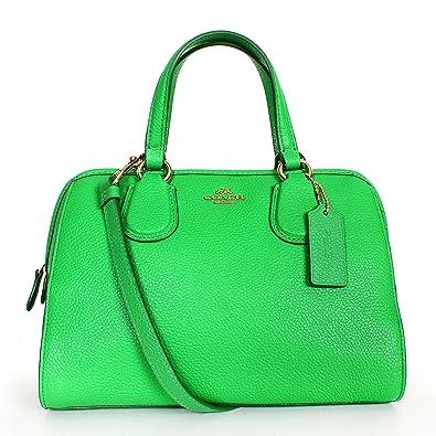 Coach 33735 Pebbled Leather Mini Nolita Satchel Green: Handbags ...