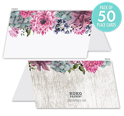 Place Cards Pack Of 50 For Bridal Or Baby Showers