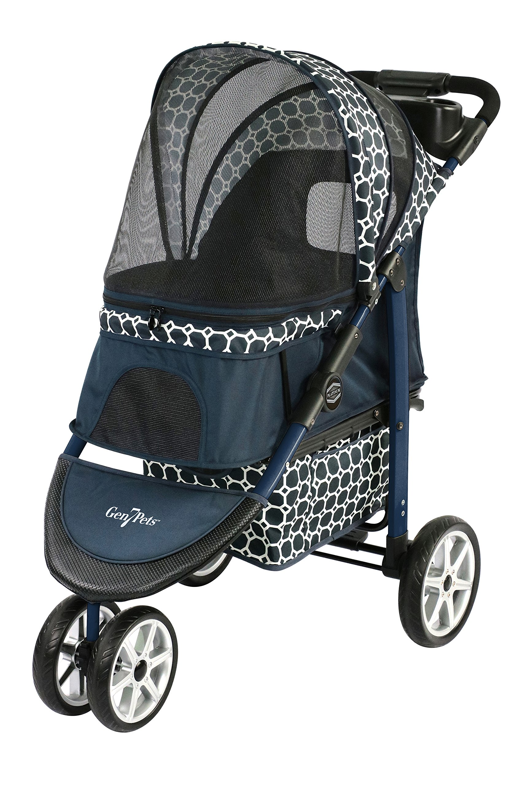 Gen7Pets Premium Monaco Stroller for Dogs and Cats up to 60lbs - Lightweight, All-Terrain and Portable by Gen7Pets