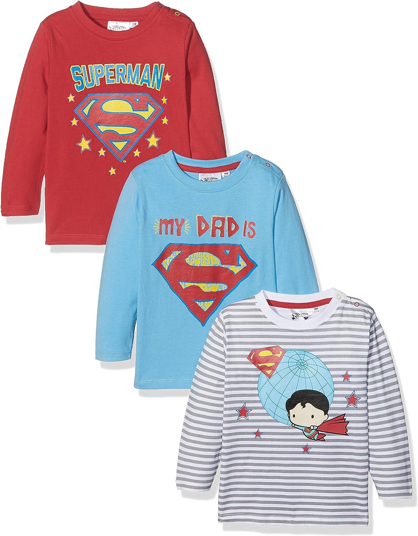 Pacco da 3 FABTASTICS Superman Basic T-Shirt Bimbo