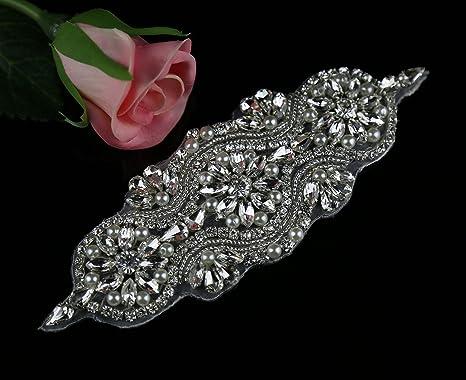 Queendream bridal applique perline di cristallo trim per abiti da