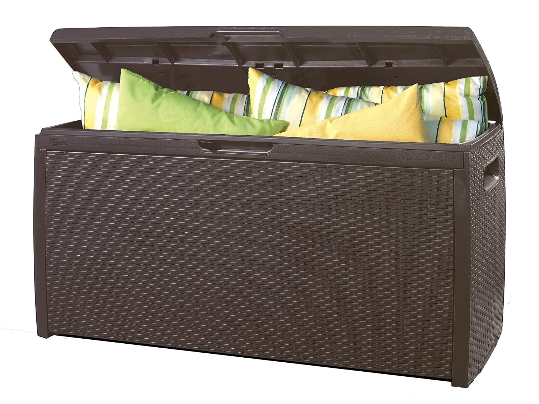 Keter Rattan Box Marron - Arcón, color marrón 265 Litros