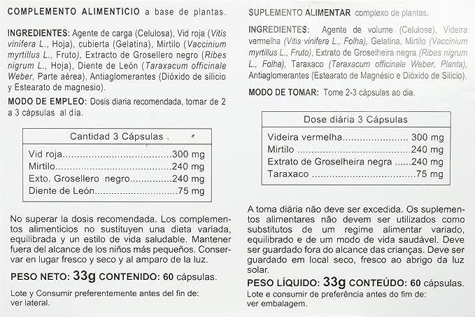 Integralia Vid Roja Plus, 60 Cápsulas: Amazon.es: Salud y cuidado personal